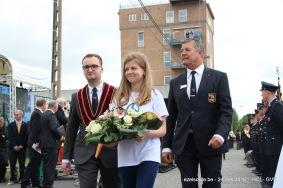 Samen met Grootmeester Eddy Lafaut brengen ze een bloemenhulde