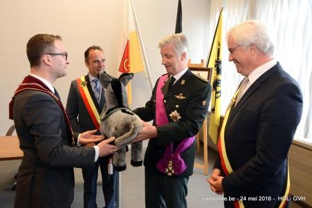 De ezel gaat van Kuurne naar Brussel